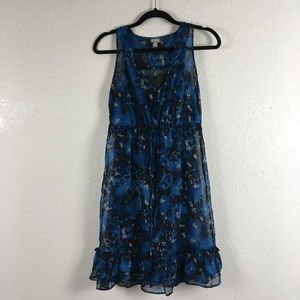 CONVERSE ONE STAR Sheer Floral Dress Attached Slip